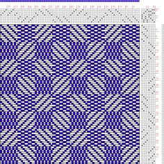 Hand Weaving Draft: 40 sur 40, Planche B, No. 6, P. Falcot: Traité Encyclopedique et Méthodique de la Fabrication Des Tissus, 8S, 8T - Handweaving.net Hand Weaving and Draft Archive