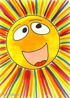 Sonnenschein Pur – Der Frühling ist da - All For Remodeling İdeas Art Education Lessons, Art Lessons, Education Logo, Art 2nd Grade, Drawing For Kids, Art For Kids, Square One Art, Art Soleil, Different Kinds Of Art