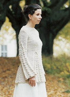 Julita from Cornelia Tuttle Hamilton.  I've seen this knit in noro kureyon and in a  Rowan Summer Tweed. Both were gorgeous  and casual to wear !