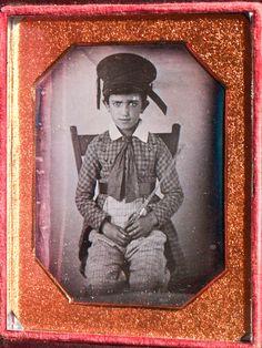 daguerreotype of young boy in hat & costume | daguerreotypeShop