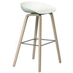 About a Stool bar stool, white - oak Kitchen Stools, Counter Stools, Bar Stools, Nordic Design, Küchen Design, Retro Interior Design, Kitchen Dining Living, Tap Room, Scandinavian Living