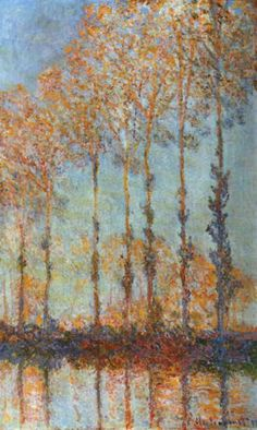 Monet - Poplars along the River Epte, Autumn