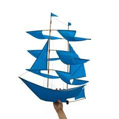Get carried away with our SUPER sailing ship kites! Intricately hand-crafted by artisans in Bali, each kite is a functional work of art. With 4 tiered sails and more surface area, these big ships fly