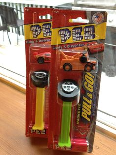 New Disney Pixar Pull And Go Candy Dispensers, Tow Mater and Lightening McQueen