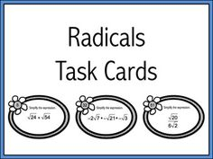 "Need an easy ""go to"" activity? These EDITABLE task cards are it! High School Subjects, Secondary Teacher, Algebra 2, School Grades, 8th Grade Math, School Resources, Task Cards, Middle School, Madness"