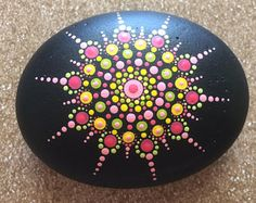 Handgeschilderde Mandala stenen