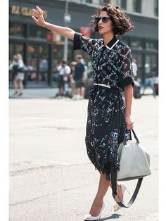 Yasmin Sewell - Chloe bag, Nicholas Kirkwood shoes, Preen by Thornton Bregazzi dress