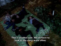 Lorelai, Michel, and Sookie join Jackson who was sleeping with the zucchini.