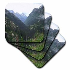 3dRose cst_65228_2 Pretty Alaskan Mountains PhotographSoft Coasters Set of 8 -- Continue to the product at the image link. (This is an affiliate link)