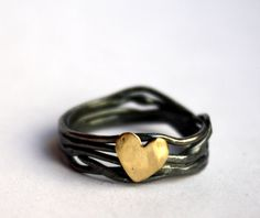 Nested heart ring in sterling silver (with shop link) #silver ring