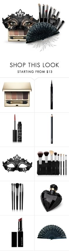 """Mascarade makeup"" by never-say-never1d ❤ liked on Polyvore featuring beauty, Clarins, Givenchy, NARS Cosmetics, Illamasqua, Lipsy, Witchery and EBANO"