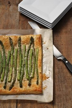 Easy, skinny Asparagus and Gruyere Tart