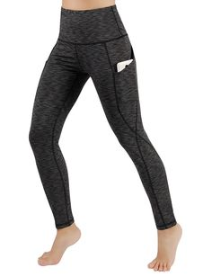 ODODOS Power Flex Boot Cut Yoga Pants Tummy Control Workout Running 4 way Str...