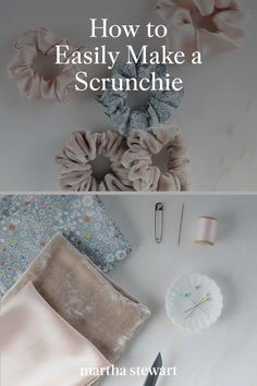 Follow our easy step-by-step directions with our DIY scrunchie tutorial that you can complete in just a few steps. Make this DIY scrunchie as a handmade gift or as a simple craft to do while stuck at home. #marthastewart #crafts #sewing #diycrafts #diyideas #diygifts