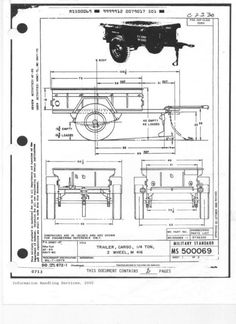 M416 Trailer original dimensions