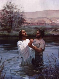 Harry Anderson 1906-1996  Jesus being baptized by John the Baptist. Luke 3:21-22