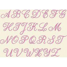 Alphabet gratuit pour broderie machine