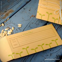 Green Seedling Personalized Seed Envelopes {#205}   Inkello