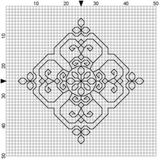 100% Free blackwork and cross stitch patterns designed by Jeanne Dansby