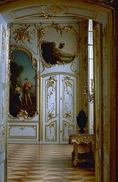 Baroque door in the Sanssouci Palace Brandenburg Germany built in 1747 for Frederick the Great