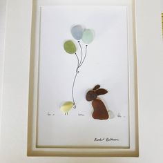 Easter and #seaglass #seaglassart #balloons #easterchick #easter