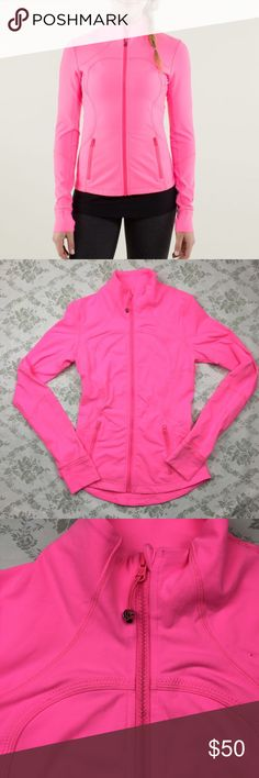 Lululemon neon pink Forme Jacket sz 4 Pre loved great condition lululemon athletica Jackets & Coats