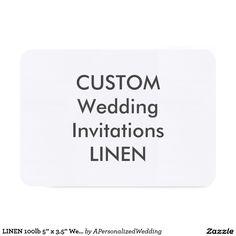 """LINEN 100lb 5"""" x 3.5"""" Wedding Invitations"""