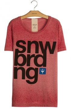 Osklen - T-SHIRT OVER USED SNWBRDNG - diferenciada - t-shirts - men