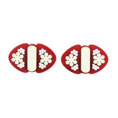 Deco red shoe clips | $80 | #UnderOurSky Shoe Clips, Red Shoes, Deco, Accessories, Design, Red Dress Shoes, Decor, Deko