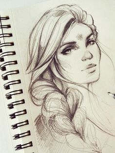Aelin Character Sketch / Drawing