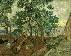 Vincent van Gogh Madhouse garden of St-Remy painting for sale - Vincent van Gogh Madhouse garden of St-Remy is handmade art reproduction; You can buy Vincent van Gogh Madhouse garden of St-Remy painting on canvas or frame. Vincent Van Gogh, Paul Vincent, Art Van, Van Gogh Arte, Van Gogh Pinturas, St Remy, Van Gogh Paintings, Art Brut, Van Gogh Museum