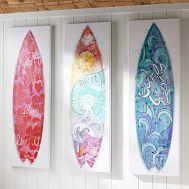 DIY until she can get her own board to hang up (of course this requires an ocean nearby)