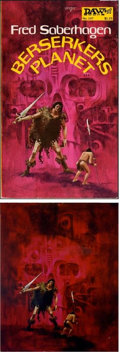 JACK GAUGHAN - Berserker's Planet by Fred Saberhagen - 1975 DAW Books - cover by isfdb - print by picssr.com