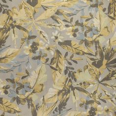 F3047 Fresco Gray Fabric, Yellow Fabric, Floral Fabric, Greenhouse Fabrics, Jacquard Weave, Grey Yellow, Natural World, Floral Embroidery, Color Trends
