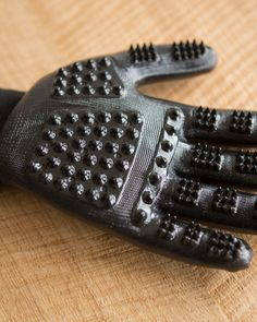 These gloves are pretty ingenious. They are meant to wear when your pets are shedding, so you can pet them and get the hair off. We have a dog that sheds a ton, and this would be awesome.