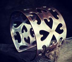 Copper Hearts Cuff