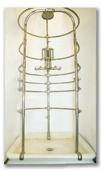 Ribcage Shower - Architectural Salvage is so cool!