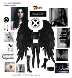 """""""New X-Men Lady Tragedy: Xavier's  (SEE DESCRIPTION)"""" by americanreject ❤ liked on Polyvore featuring GET LOST, David Koma, The Row, Demonia, John Lewis and Betsey Johnson"""