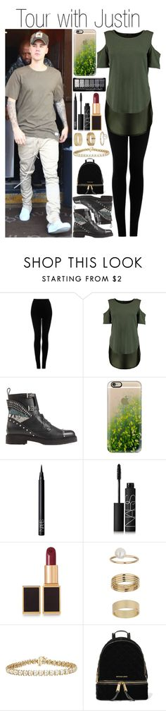 """Untitled #1009"" by fatima-styles102 ❤ liked on Polyvore featuring Justin Bieber, Topshop, Fendi, Casetify, NARS Cosmetics, Tom Ford, Miss Selfridge and MICHAEL Michael Kors"