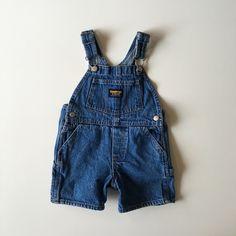 SOLD Vintage Blue Denim Overall Shorts for Baby by Osh Kosh $15 https://www.etsy.com/listing/275907436/vintage-osh-kosh-bgosh-blue-denim?ref=shop_home_listings