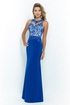 royal blue evening dresses,long prom dresses 2014 with beaded lace top