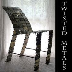 Upcycled Metal Hinge Chair by nevastarr on Etsy, $599.00