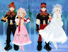 Sorceress Snow Queen and Bloom Queen Scene Maker Azaleas Dolls.