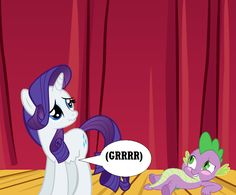 Rarity Gets Stage Hunger by Eli-J-Brony on DeviantArt