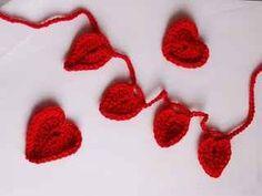heart garland crochet hearts-valentines crochet