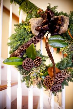 Evergreen-and-Burlap-Wedding