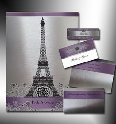 paris invitation images | Click here to see details for Eiffel Invitation Set