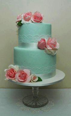 Torta de boda verde menta - The Enchanted Cove