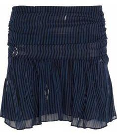 Cary printed chiffon mini skirt