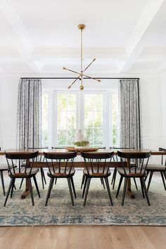 """""""The house was a new build and felt very modern meets Cape Cod traditional,"""" Lewis tells us. The home of a young family, the designer set out to craft a dream home that married form..."""